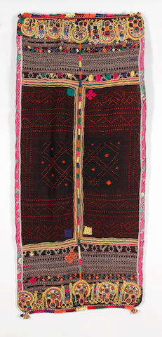 Four Double Ended Shawls, Gujarat, India largest approx 300 x 93