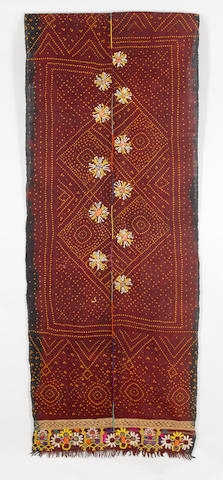 Two Double Ended Shawls, Gujarat, India