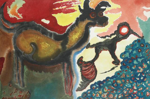 Grace Pailthorpe (British, 1883-1971) Surrealist Composition