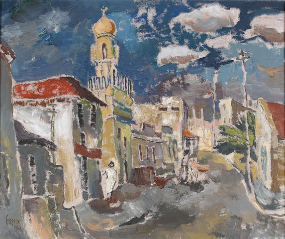 Gregoire Johannes Boonzaier (South African, 1909-2005) The Malay Mosque, Loop street, Cape Town 51 x 61 cm. (20 x 24 in.)