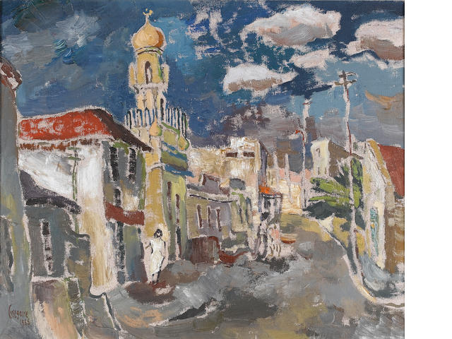Gregoire Johannes Boonzaier (South African, 1909-2005) The Malay Mosque, Loop street, Cape Town 51 x