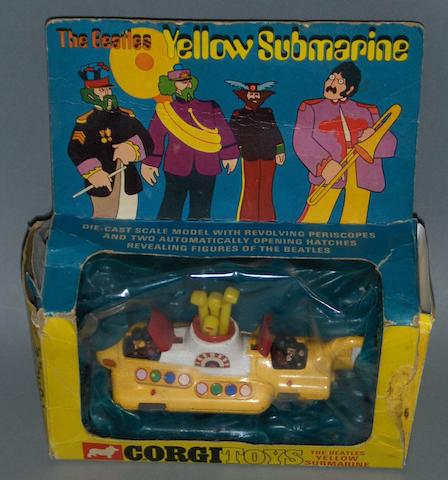A Corgi 'Yellow Submarine' die-cast toy, 1968,