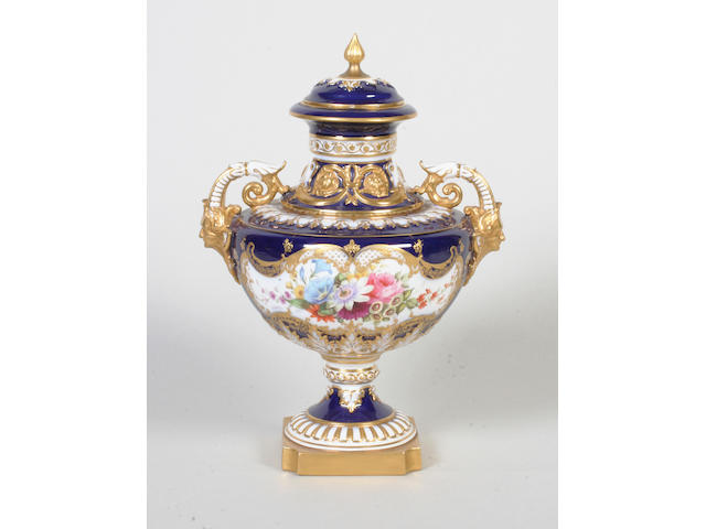 A Royal Worcester vase and cover by Ernest Phillips Circa 1903