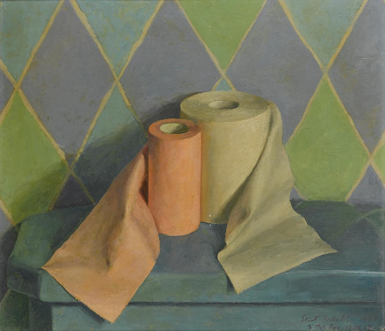 Eliot Hodgkin (British, 1905-1987) Toilet Rolls 31.5 x 36 cm. (12 1/2 x 14 1/4 in.)