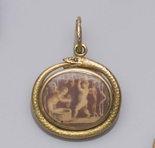 An early 19th century gold pendant