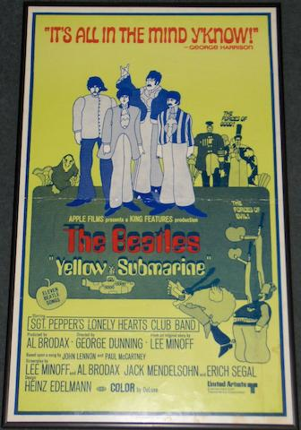 Two Beatles related film posters, lobby card and window card, film titles being; 2