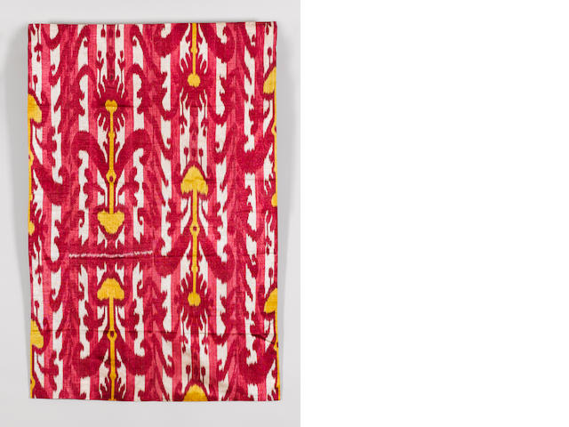 An Ikat panel, Central Asia *Frame*