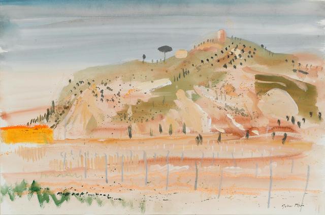 John Piper C.H. (British, 1903-1992) Voltena 36 x 53.2 cm. (14 1/4 x 21 in.)