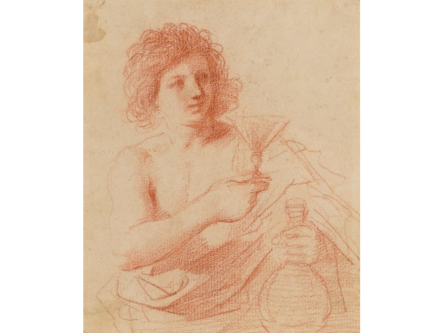 Giovanni Francesco Barbieri, called il Guercino (Cento 1591-1666 Bologna) A young man holding a glas