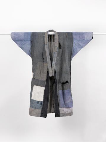 An indigo Boro jacket Japan 129cm long