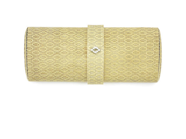 A diamond-set evening bag