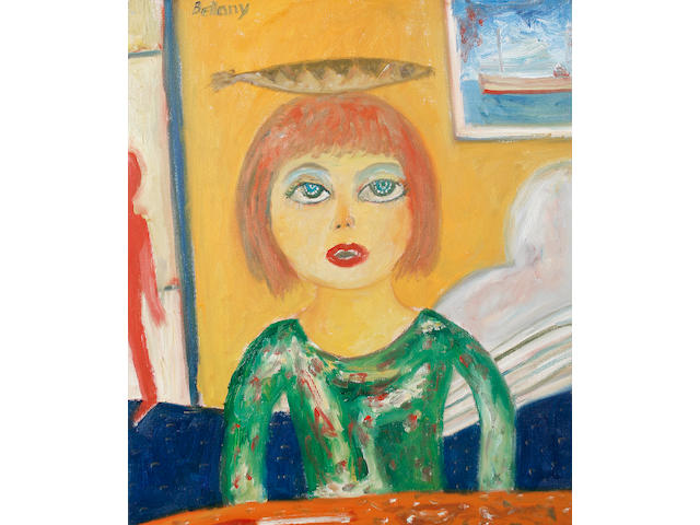 John Bellany, CBE RA HRSA LLD(Lon) (British, born 1942) Woman with fish unframed
