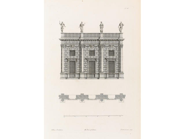 JONES (INIGO) The Designs of Inigo Jones, Constisting of Plans and Elevations for Publick and Private Buildings, 2 vol.
