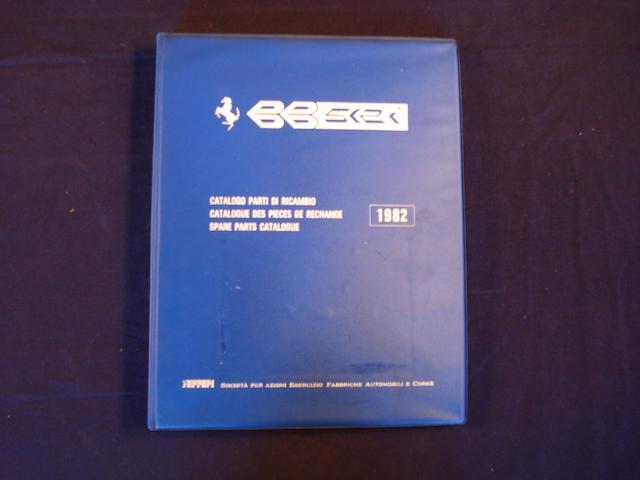 A catalogue of spare parts for the Ferrari 512BBi,