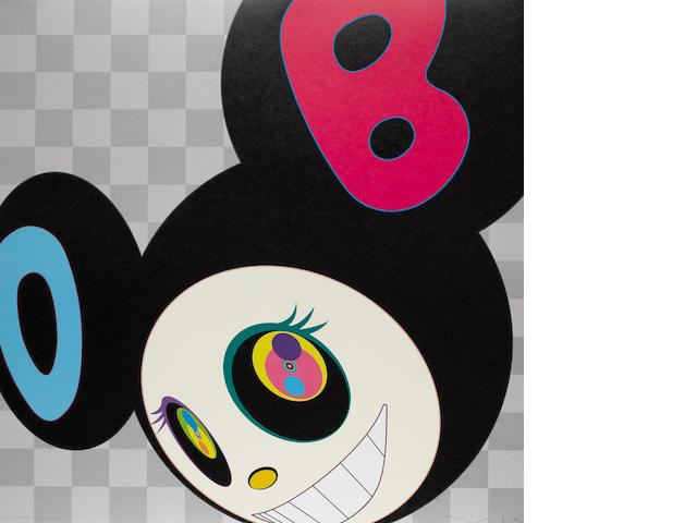 Takashi Murakami (Japanese, born 1962) 'AND THEN Black', 2006