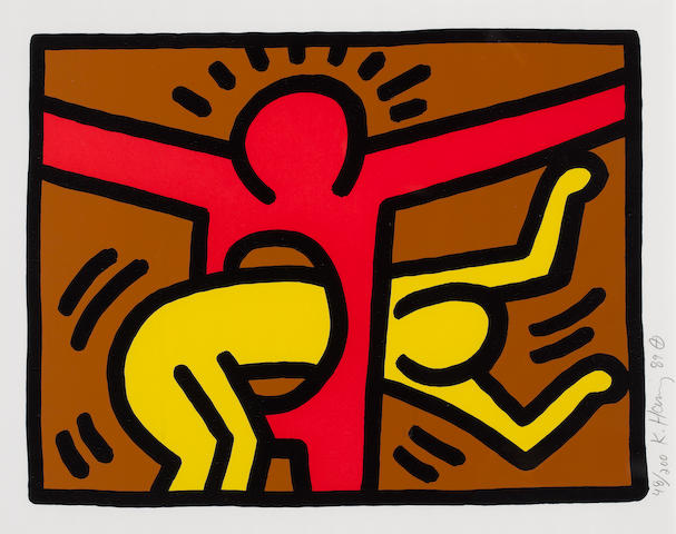 Keith Haring (American, 1958-1990) 'Pop Shop IV', 1989