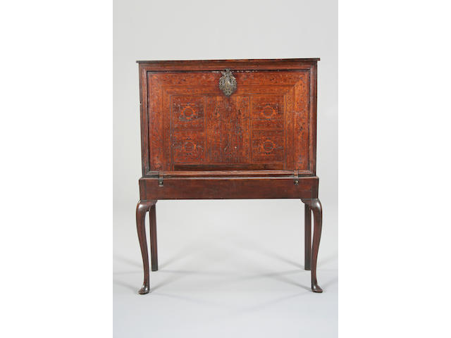 An 18th century Portuguese rosewood and marquetry secretaire