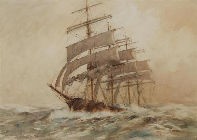 Arthur John Trevor Briscoe (British, 1873-1943) 'Storm canvas' 52.4 x 73.7cm. (20 5/8 x 29in.)