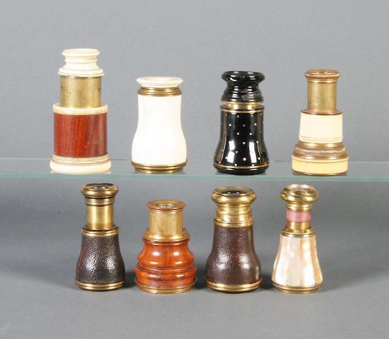 Eight early 19th century optics