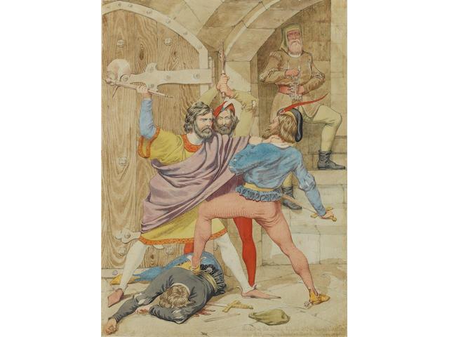 Richard Dadd (British, 1817-1886) The death of Richard II
