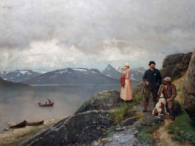Axel Ender (Norwegian, 1853-1920) 'Farewell'