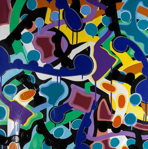 JonOne (French/American, born 1963) 'Trojans War', 2004