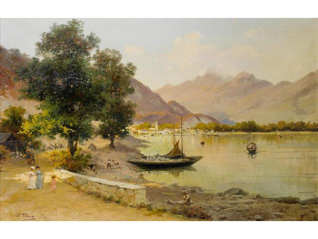Silvio Poma (Italian, 1840-1932) Feriolo, on lake Maggiore