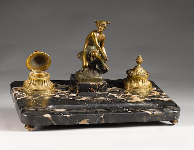 A rare 'Hermes' deskpiece, French, circa 1908,
