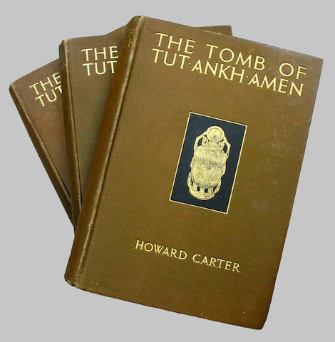 CARTER (HOWARD) The Tomb of Tut'ankh'amen: Discovered by the late Earl of Carnarvon and Howard Carter, 3 vol.