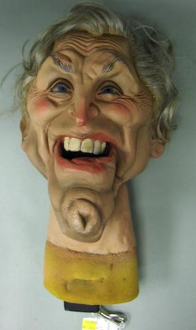 Spitting Image: a puppet of Kirk Douglas,