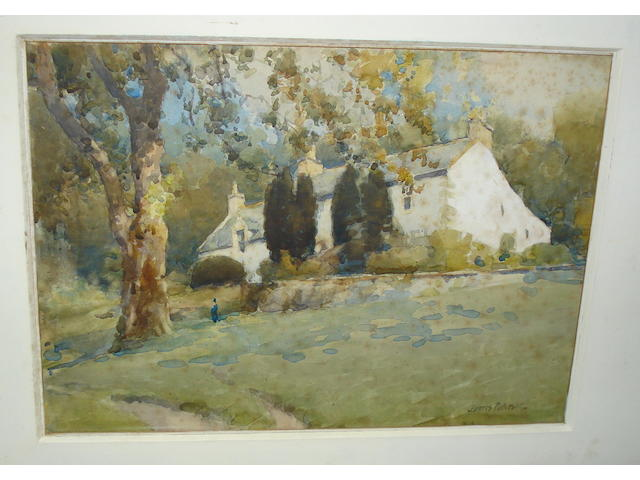 James Paterson, PRSW RSA RWS (British, 1854-1932) Glencairn Farmhouse
