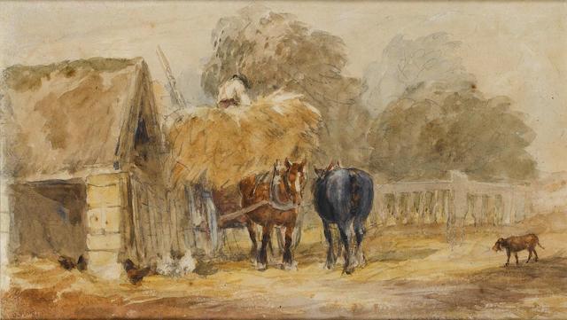 David Cox Snr., O.W.S. (British, 1783-1859) Carting the hay