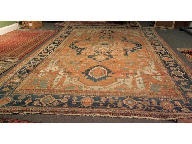 A large oriental carpet 345cm x 545cm