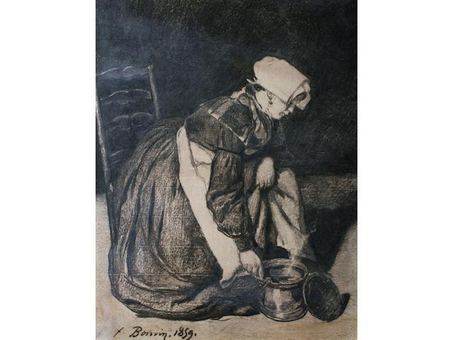 François Bonvin (French, 1817-1887) 'La Petite Marmite'