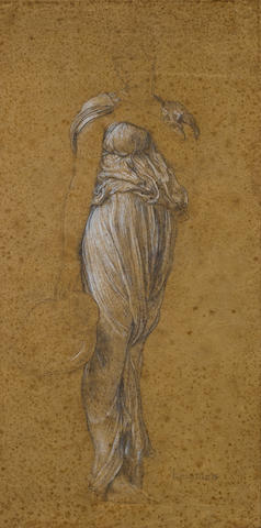 Frederic, Lord Leighton, PRA (British, 1830-1896) Study for the central figure in Captive Andromache c. 1888