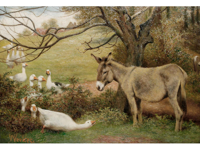 William Weekes (British, 1856-1909) Outnumbered