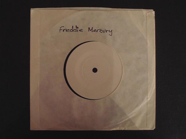 A test pressing of 'Overture Piccante'/'The Fallen Idol' by Freddie Mercury, circa 1988,