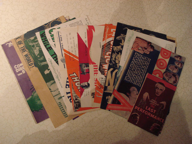 A collection of seventeen 1920's and 1930's Horror film related promotional handbills, film titles i