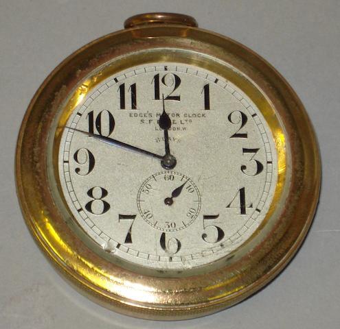 A car clock by S.F. Edge,