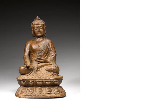 "Cast-iron Sakyamuni Buddha""8cm"