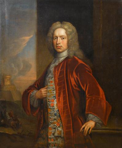 Circle of Charles Jervas (Ireland circa 1675-1739 London) Portrait of a gentleman, 124 x 101 cm. (48