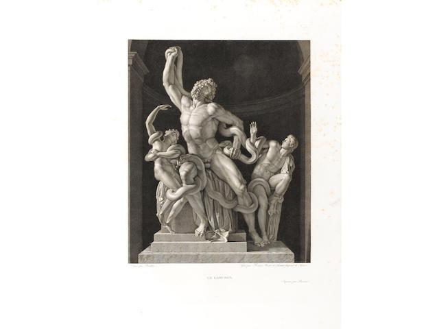 MUSÉE FRANÇAIS DUCHESNE (JEAN) Musée Français, recueil des plus beaux, tableaux, statues et bas reliefs qui existant au Louvre avant 1815, 4 vol.