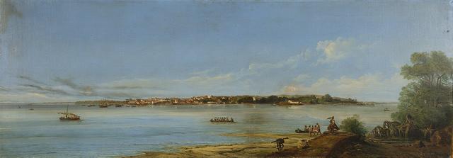 Giuseppe Leone (Joseph Léon) Righini (Italian, circa 1820-1884) Brazilian landscape