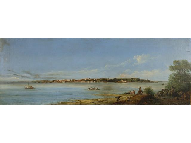 Giuseppe Leone (Joseph Léon) Righini (Italian, circa 1820-1884) Panorama of São Luis do Maranhão, Brazil
