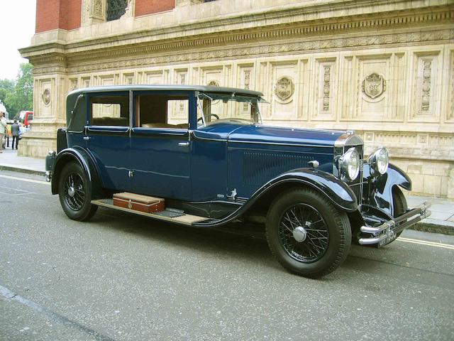 Originally the property of Sir Stanley Ward, British Consul in Cannes,1929 Rochet-Schneider 20hp Type 2900 Saloon  Chassis no. 29038 Engine no. 29000