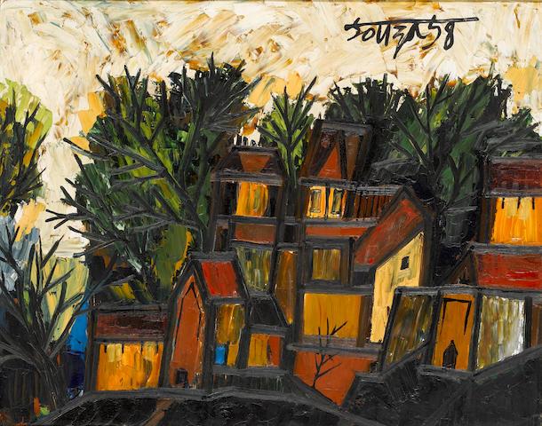 Francis Newton Souza (India, 1924-2002) Houses in Hampstead