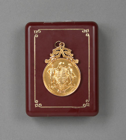 1912 F.A. Cup final winners gold medal