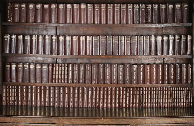 Complete set of John Wisden's Cricketer's Almanack's
