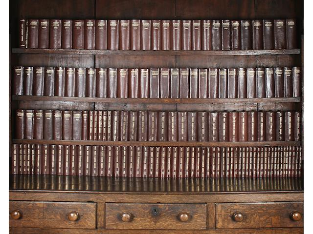 Complete set of John Wisden's Cricketers' Almanacks