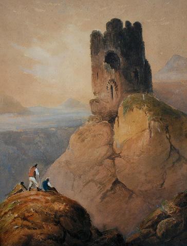 Francis Nicholson (British, 1753-1844) Dolbadarn Castle, North Wales
